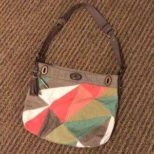 Fossil patchwork bag
